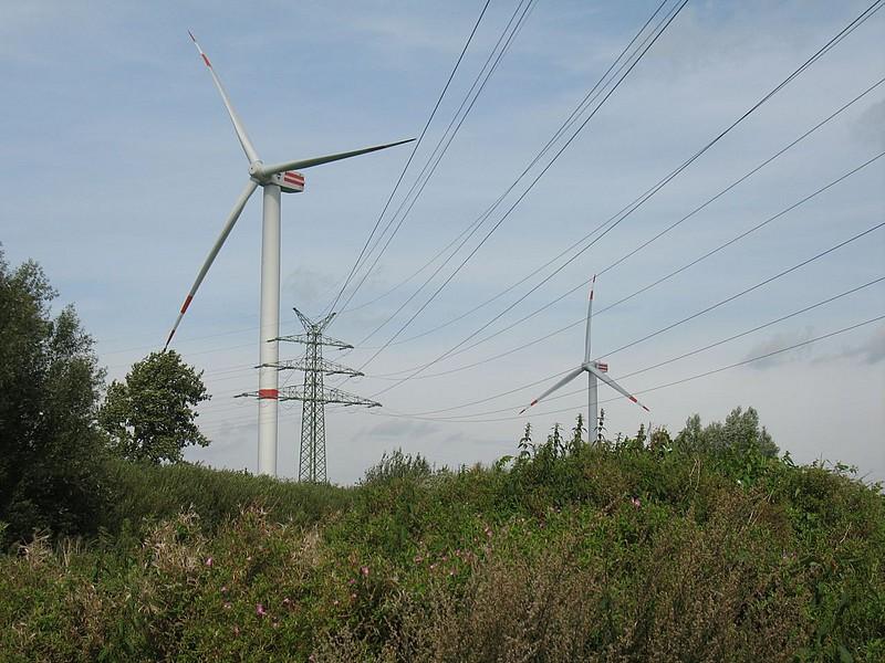 Büttel, 380 kV-Freileitung