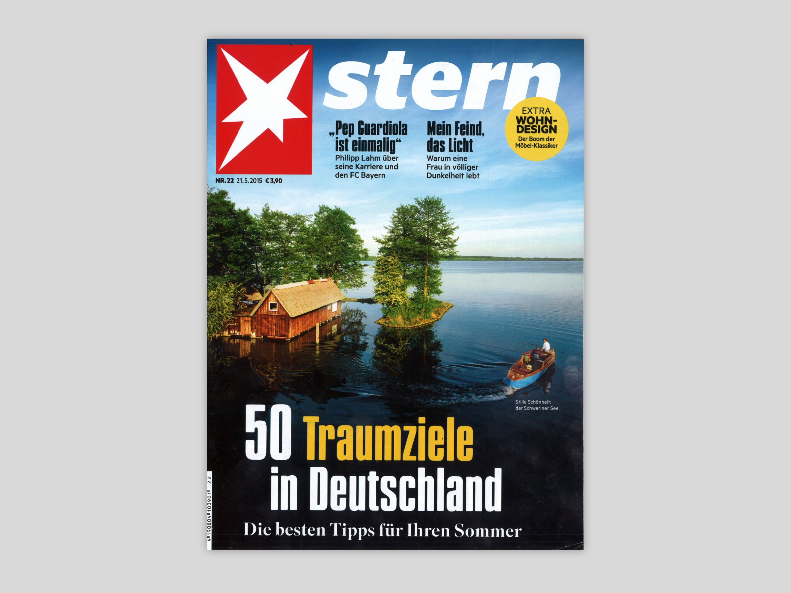 Stille Schönheit: der Schweriner See. Quelle: stern Heft Nr. 22, 2015, Titelblatt.
