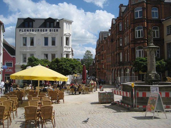 Flensburg, Fußgängerzone, 2006