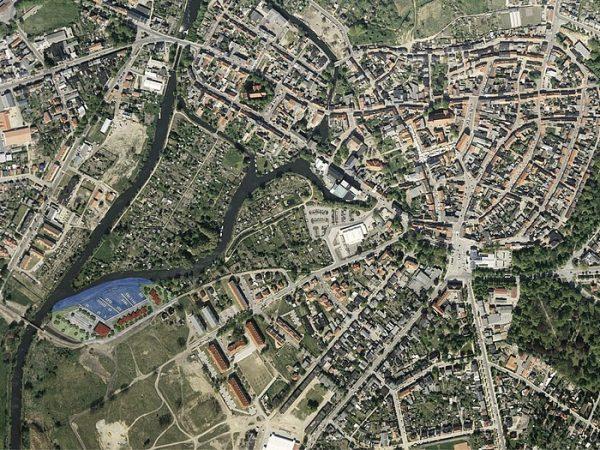 Parchim, Bau eines Sportboothafens