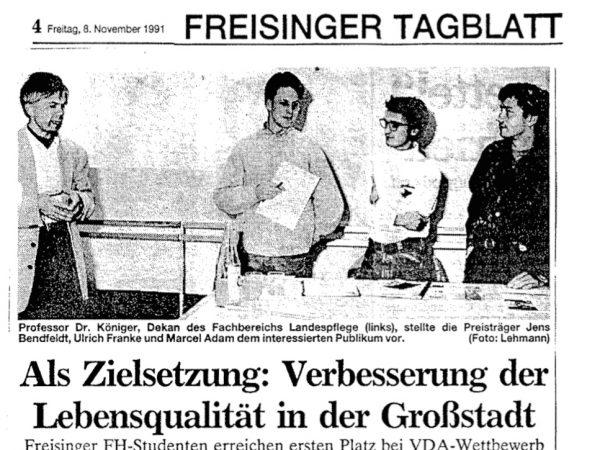 1. Preis, München, Parken im Quartier, 1991