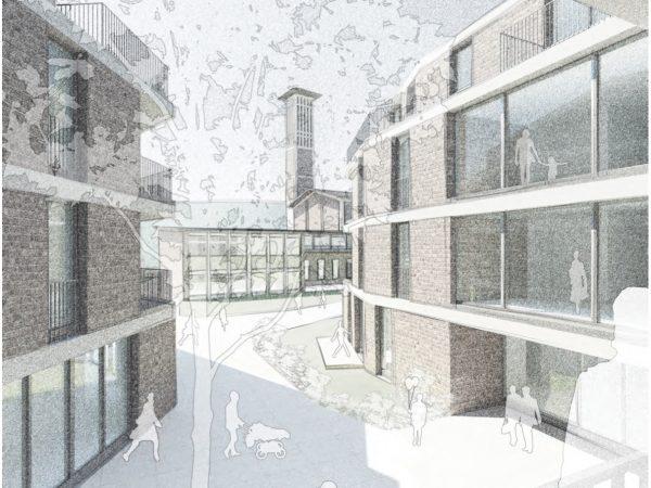 1. Preis, Hamburg, Wohnbebauung Paul-Gerhardt-Gemeinde, 2016