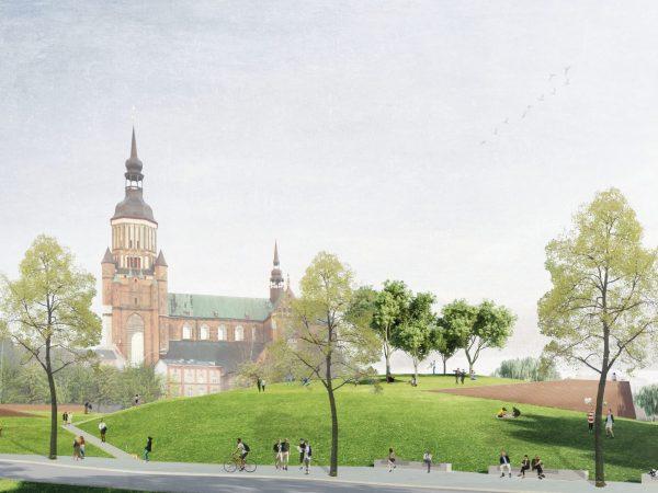 Stralsund, Umgestaltung Schützenbastion, 2019