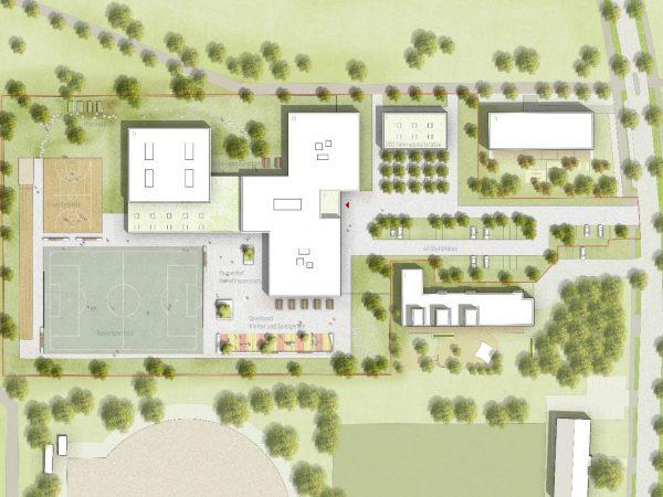 3. Preis, Fürstenfeldbruck, Neubau Grundschule, 2019