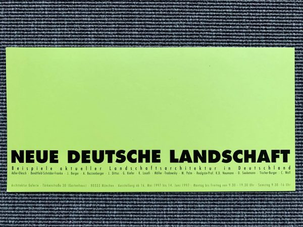 Neue Deutsche Landschaft, 1997
