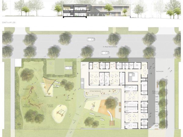 1. Preis, Paderborn, Neubau Kindertagesstätte Alanbrooke, 2020