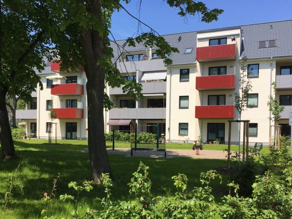 Schwerin, Wohnumfeld Lübecker Straße, 2021