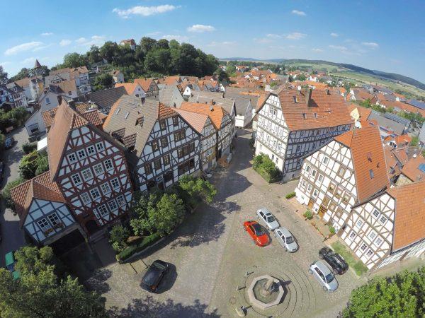 Alter Markt und Umfeld Stadtkirche, Gudensberg, 2021