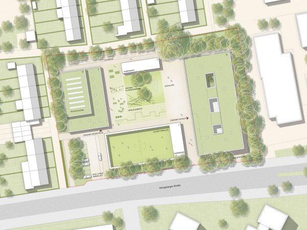 1. Preis, Münster, Neubau Melanchthonschule, 2021